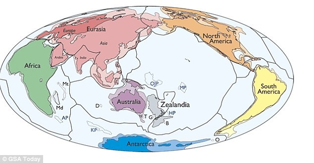 Zealandia, Eighth continent, GSA, discovered,