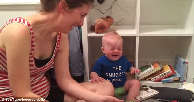Baby bookworm cries every time his parents finish reading the books