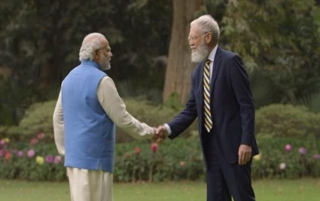 Narendra Modi,PM Narendra Modi,Modi,David Letterman,Modi with David Letterman,Modi and David Letterman,Prime Minister Narendra Modi