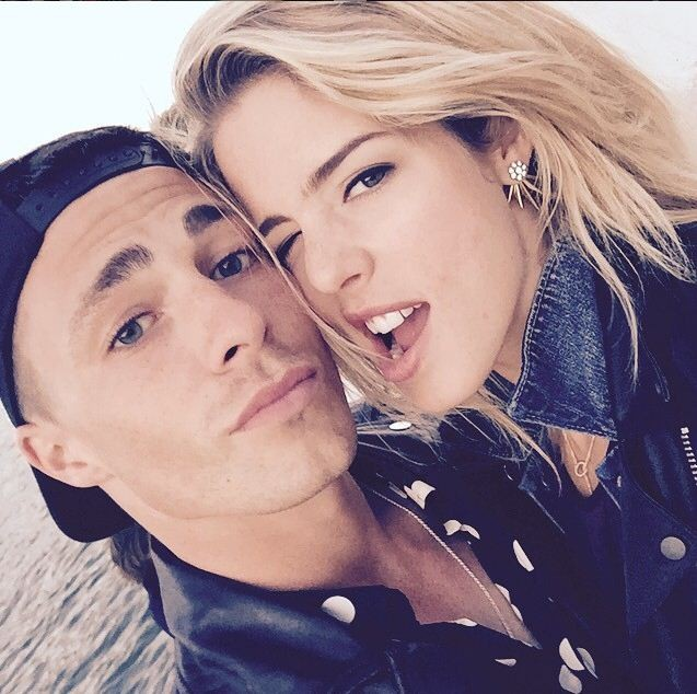 Emily Bett and Colton Haynes