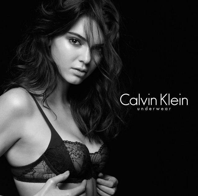 Kendall Jenner models Calvin Klein underwear