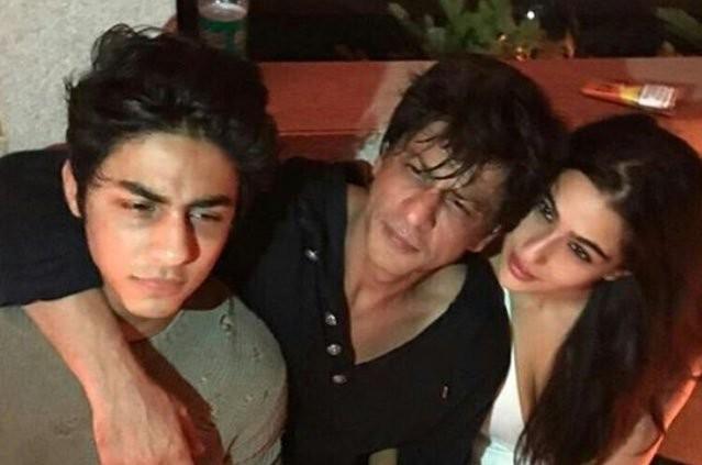 Aryan Khan, Shah Rukh Khan, Sara Ali Khan at Karan Johar's birthday bash