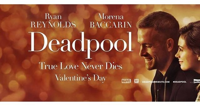 The new Valentine's Day poster of Deadpool