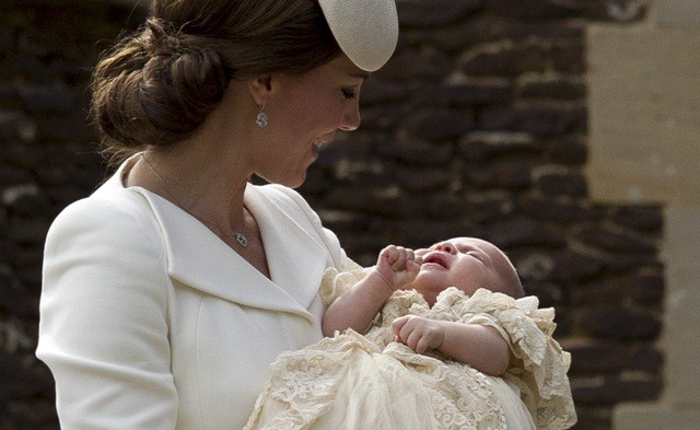 Royals Attend Christening of Princess Charlotte,princess charlotte christening,princess charlotte