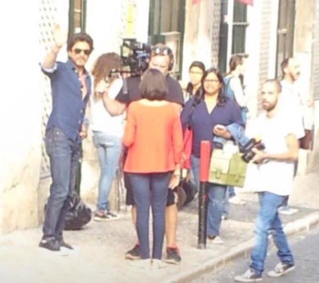 Shah Rukh Khan,Anushka Sharma,Shah Rukh Khan and Anushka Sharma,SRK and Anushka Sharma,SRK,The Ring,The Ring on the sets,The Ring working stills,The Ring working pics,The Ring working images,The Ring working photos,The Ring working pictures