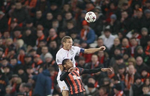 Vidic Adriano Manchester United Shakhtar Donetsk