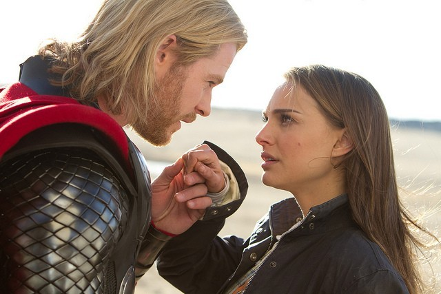 Natalie Portman and Chris Hemsworth in Thor