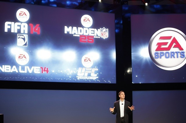 Andrew Wilson, executive vice president, EA Sports at a press event in Washington 2013.