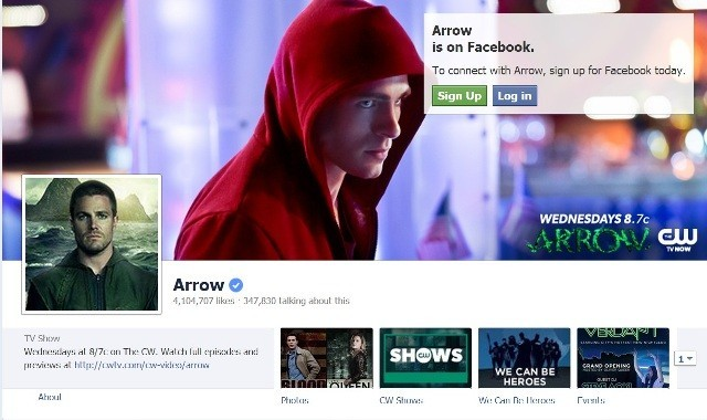 Arrow (Facebook Screengrab)