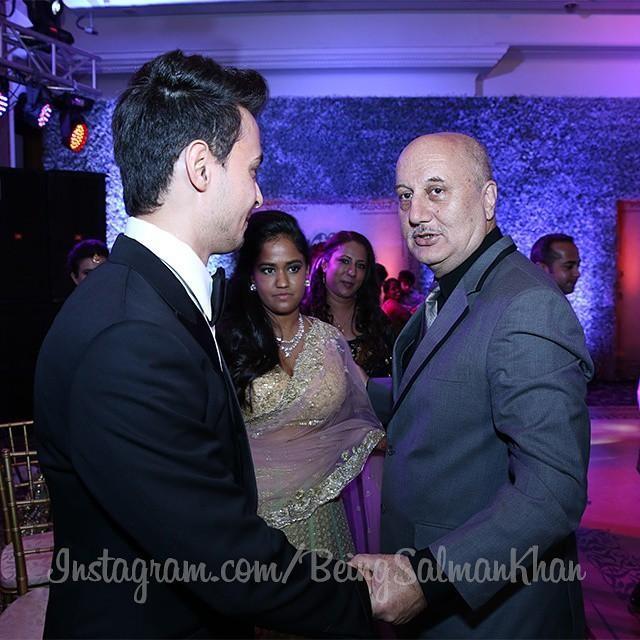 Anupam Kher at Arpita Khan's Wedding Reception
