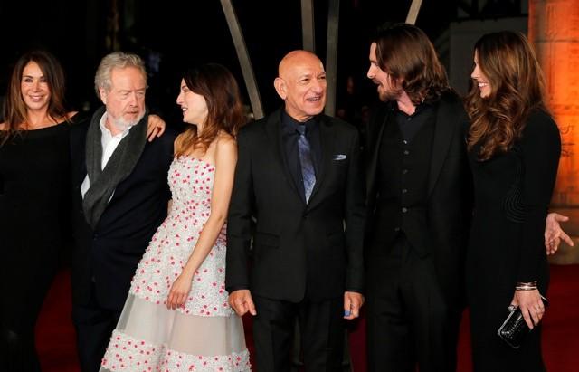 ... , Maria Valverde, Ridley Scott Attend Premiere in London [PHOTOS