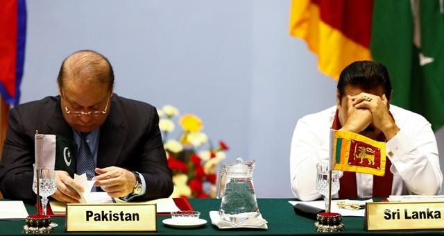 Nawaz Sharif and Mahinda Rajapaksa