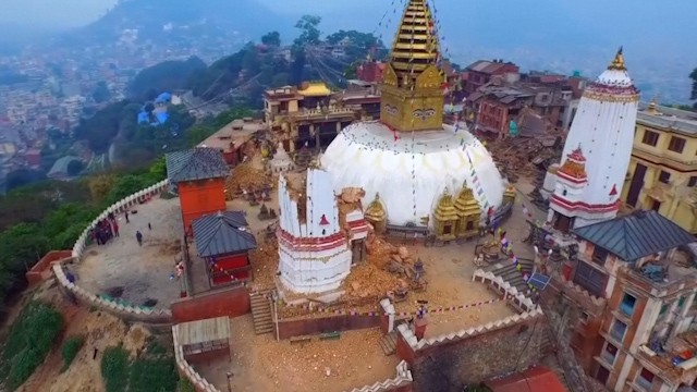 Nepal earthquake: Drone footage shows bird's eye view of Kathmandu devastation