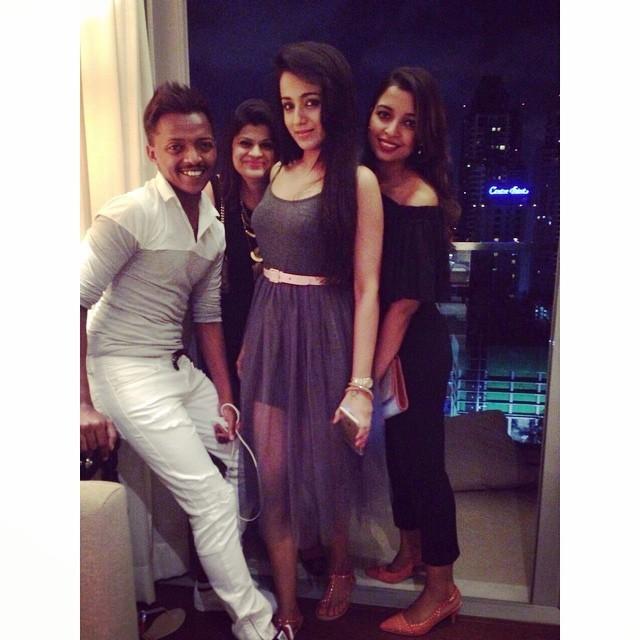 Trisha and her friends in Bangkok