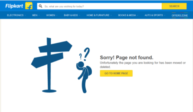Flipkart e-book category closed