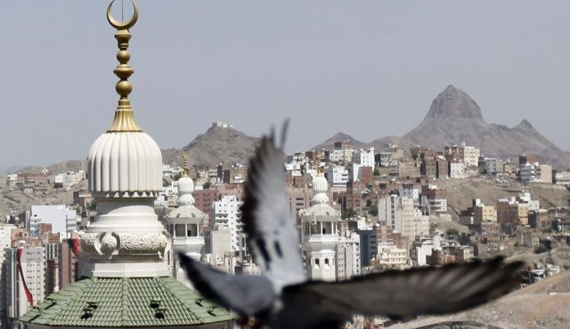 A pigeon flies by a mosque in Egypt. [Representation Pic]