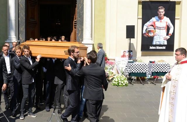 jules bianchi funeral
