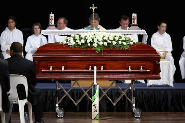 Phil Hughes funeral