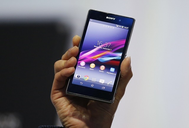 Sony Xperia Z1 during it's world premier at the IFA consumer electronics fair, 2013