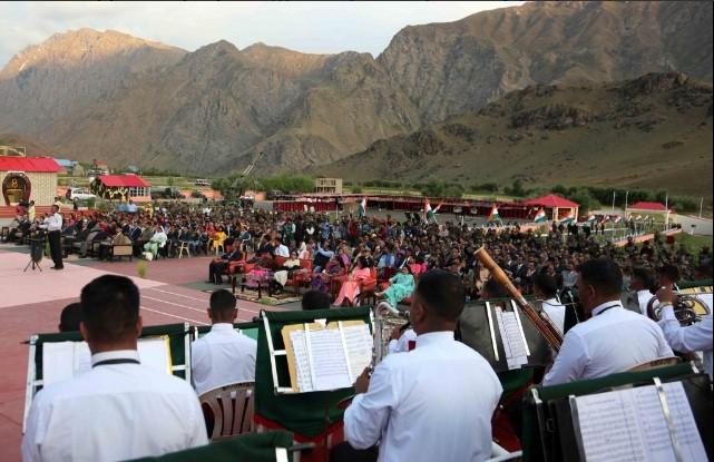 Fusion Band & Lighting Ceremony at the Kargil War Memorial at Dras today on the occasion of Kargil Vijay Diwas.