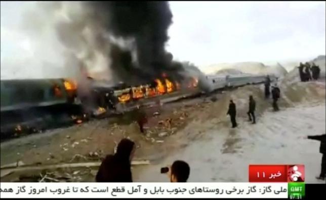 Iran train accident