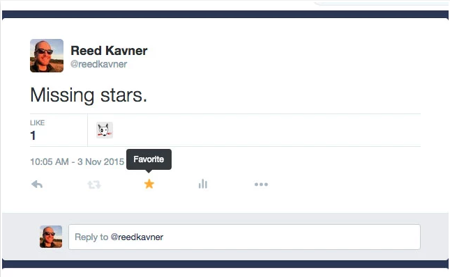 How to replace hearts (likes) with stars (favorites) on Twitter?