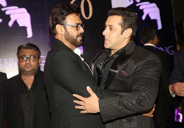 Salman Khan,Salman Khan at Chiranjeevi's 60th Birthday Celebration,Chiranjeevi's 60th Birthday Celebration,Chiranjeevi 60th Birthday Celebration,Chiranjeevi