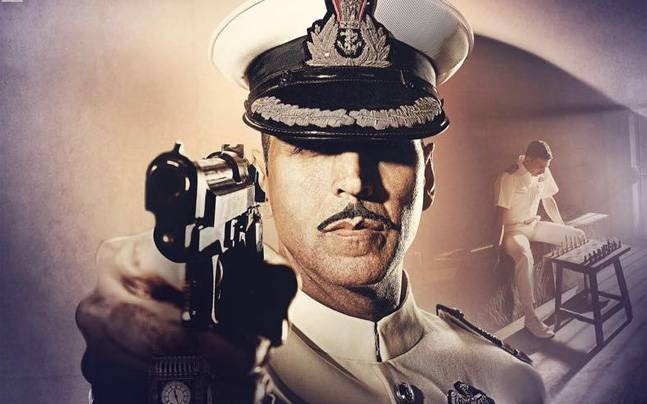 """""""Rustom"""" becomes 4th most profitable film of 2016. Pictured: Akshay Kumar in """"Rustom"""" poster."""