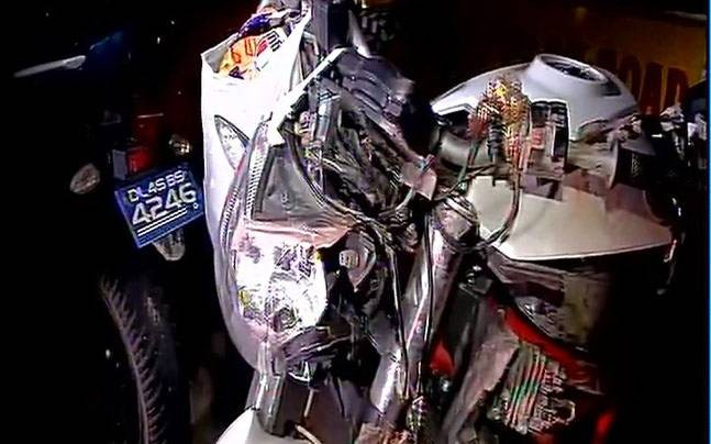 Helmet-Cam Caught Delhi Crash, 6 Lakh Bike, Young Rider Killed