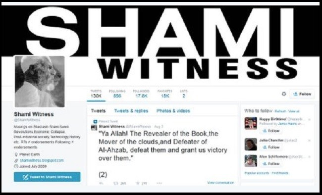 Shami Witness, ran one of the most influential ISIS Twitter accounts. He was in regular touch with ISIS recruits from Britain and other countries.