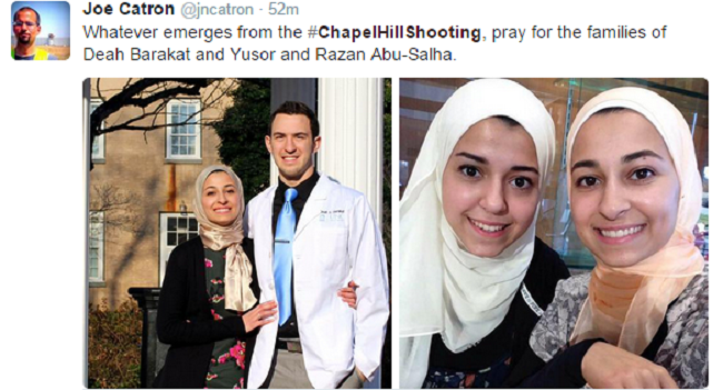 Social media has reacted with outrage over the lack in media coverage on the Chapel Hill shooting incident.