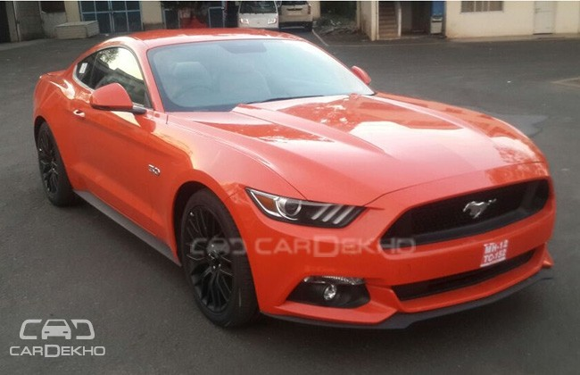 Photos Of Ford Mustang GT Premium Fastback Spied Testing in India