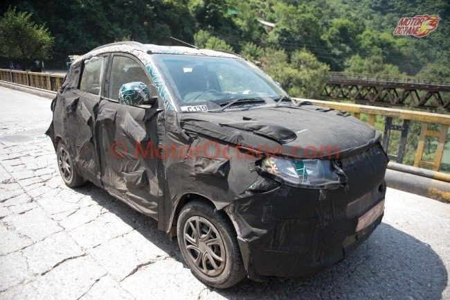 Mahindra S101 (KUV100/XUV100) spotted with XUV500-like grille; expected launch, price and more ...