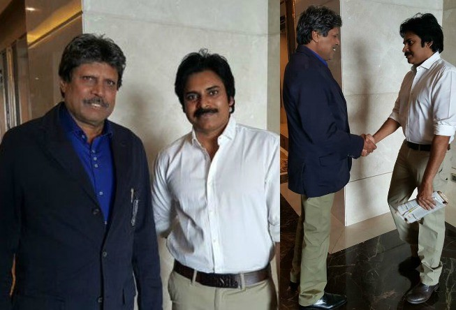 Pawan Kalyan with Kapil Dev