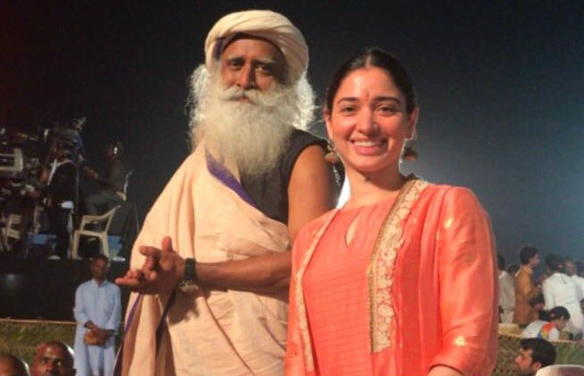 Tamannaah Bhatia with Sadhguru