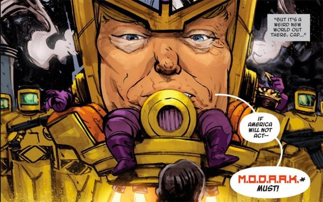 Donald Trump is the villain MODAAK in Marvel's 'Spider-Gwen Annual #1'