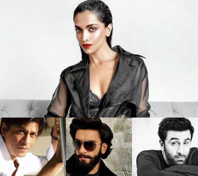 Deepika Padukone, Shah Rukh Khan, Ranveer Singh, Ranbir Kapoor