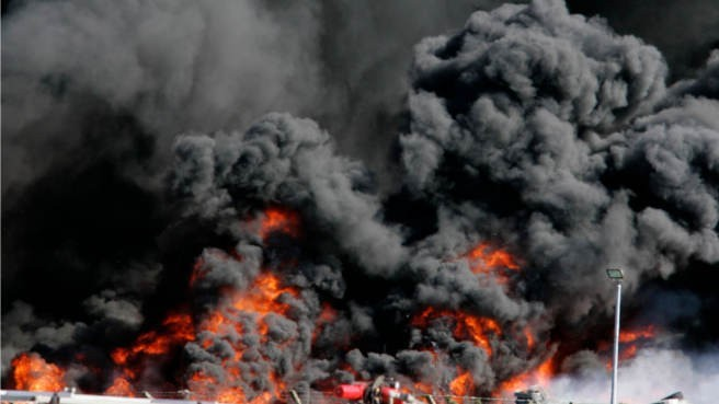 Massive Fire in Mumbai