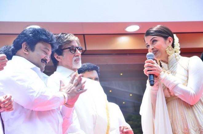 Vikram Prabhu,Prabhu,Amitabh Bachchan,Aishwarya Rai,Akkineni Nagarjuna,Shivaraj Kumar,Kalyan Jewellers,Kalyan Jewellers Inauguration in Chennai,Amitabh Bachchan and Aishwarya Rai Launch Kalyan Jewellers in Chennai
