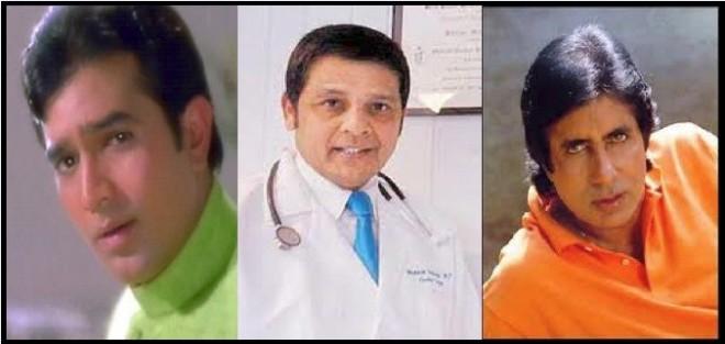 Rajesh Khanna, Dr Mukesh Hariawala, Amitabh Bachchan