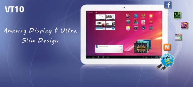 Videocon 10-inch VT10 Android Tablet