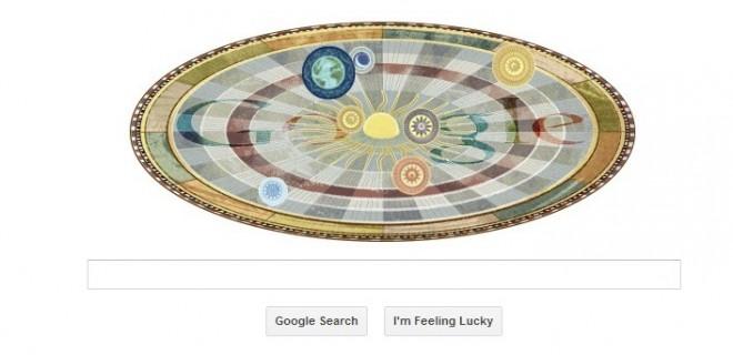 Google Doodles Nicolaus Copernicus 540th anniversary( Google/Screenshot)