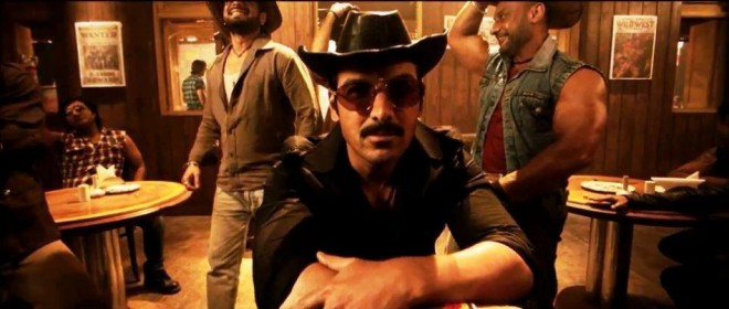 "John Abraham in a still from ""Aala Re Aala'"