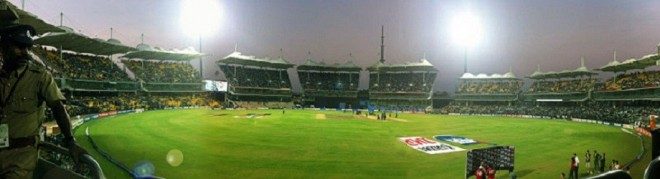 A view of MA Chidambaram stadium during ICC Cricket World Cup 2011
