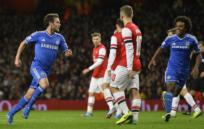 Juan Mata Chelsea Arsenal