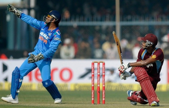 Dhoni Powell India West Indies
