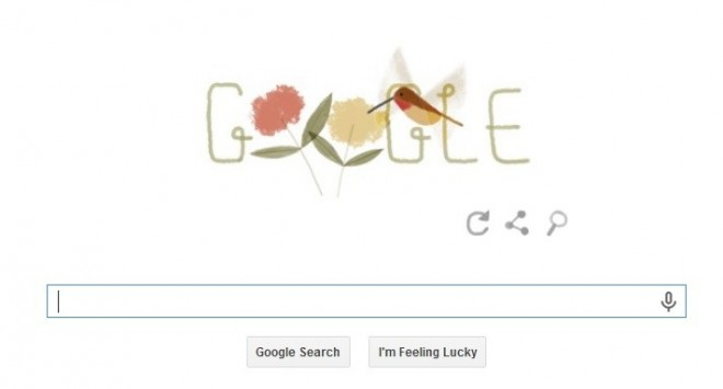 Google's animated Earth Day 2014 doodle feature creatures like Moon jellyfish, puffer fish, dung beetle, veiled chameleon, Japanese macaque, and the rufous hummingbird. (Photo: Screen Shot)