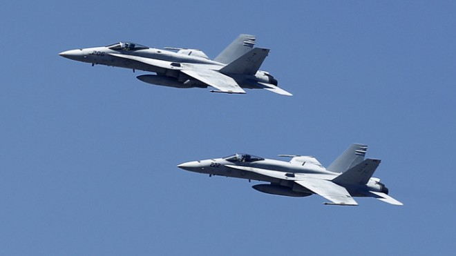 US F-18 fighter jets