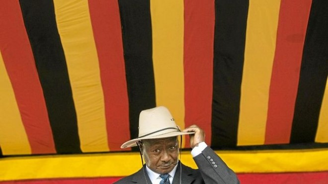A German online dating company has sent the president of Uganda,Yoweri Musevei a book on homosexuality in animals as Christmas gift.