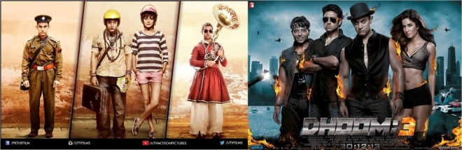 Box office collection aamir 39 s 39 pk 39 peekay beats 39 dhoom - Highest box office collection bollywood ...